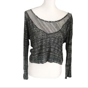 Urban Outfitters Sparkle & Fade Grey Sweater Crop